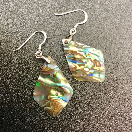 Paua Long Diamond Earrings PE03-LD